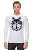 """Лонгслив """"Серый Волк"""" - животные, animal, волк, wolf"""