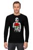 """Лонгслив """"Букет красных роз"""" - цветы, розы, космонавт"""