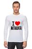 "Лонгслив ""«I love Metallica»"" - metallica, металлика, i love metallica"