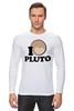 """Лонгслив """"Плутон (Pluto)"""" - pluto, space, космос, плутон"""