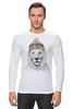 """Лонгслив """"Лев в шапке"""" - лев, lion, царь зверей"""