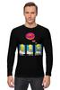 "Лонгслив ""Homer Simpson & Donut"" - симпсоны, гомер симпсон, the simpsons, donut"