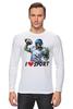 """Лонгслив """"Зомби Спорт - Я люблю Спорт"""" - zombie, зомби, зомби спорт, i love sport, я люблю спорт"""