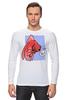 "Лонгслив ""Недоумевающая глазастая рыба"" - рыба, fish, what, шта"