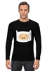 "Лонгслив ""Adventure Time"" - adventure time, усы, время приключений, finn, финн"