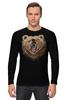 """Лонгслив """"Пиксельный Медведь"""" - bear, медведь, pixel art, пиксели, 8 бит"""