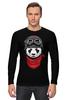 """Лонгслив """"Soviet panda"""" - звезда, панда, panda, пилот"""