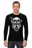 """Лонгслив """"Wolf & Skull"""" - skull, череп, волк, wolf"""