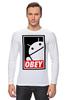 """Лонгслив """"Android (Obey)"""" - android, робот, obey, андроид, повинуйся"""