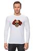 "Лонгслив ""Mrs. Skull"" - череп, цветы, рисунок"