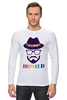"Лонгслив ""хипстер"" - style, очки, hat, шляпа, усы, hipster, shades, mustache"