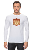 "Лонгслив ""Route 66"" - арт, авторские майки, америка, usa, дорога, road, сша, путешествие, los angeles, california"