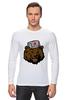 "Лонгслив ""Russian Bear (Русский медведь)"" - bear, медведь, россия, russia, путин"