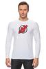 """Лонгслив """"NJ Devils"""" - хоккей, спортивная, nhl, нхл, devils, нью джерси, nj"""