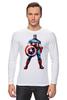 "Лонгслив ""Капитан Америка / Captain America"" - рисунок, капитан америка, captain america, knoart"