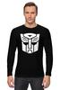 """Лонгслив """"Transformers Autoboats team"""" - роботы, transformers, трансформеры, автоботы, мульфильм"""