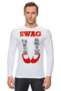 "Лонгслив ""Swag Art"" - музыка, swag, обувь, блюз, blues"
