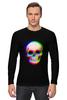 """Лонгслив """"Череп 3D"""" - абстракция, 3d, skull, череп"""