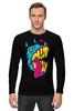 """Лонгслив """"Радиоактивный пес"""" - футболки с собаками, креативные футболки с собакой купить, разноцветные собаки"""