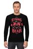 """Лонгслив """"Медведь"""" - арт, bear, медведь, иллюстрация, оскал"""