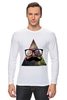 "Лонгслив ""Космос"" - арт, space, очки, хипстер, усы, hipster, mustache"