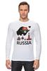 "Лонгслив ""Россия (Russia)"" - москва, moscow, русский, россия, russian"