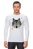 """Лонгслив """"Волк (Wolf)"""" - pixel, волк, wolf, полигоны, polygon"""