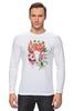 """Лонгслив """"Flower skull"""" - skull, череп, цветы, листья"""