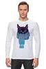 """Лонгслив """"Кот в шарфе"""" - кот, зима, cat, шарф"""
