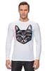 """Лонгслив """"Кот 3D"""" - кот, cat, 3d"""