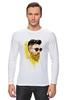 """Лонгслив """"Банановый бородач"""" - хипстер, борода, banana, beard, hipster, банан"""
