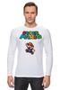 "Лонгслив ""Super Mario"" - денди, dendy, марио, mario bros, 8bit"
