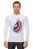 """Лонгслив """"Капитан-Америка"""" - комиксы, марвел, капитан америка"""