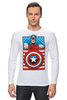 "Лонгслив ""Капитан Америка. Винтаж"" - comics, marvel, poster, марвел, vintage, капитан америка, captain america"