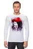 "Лонгслив ""Marilyn Manson"" - портрет, акварель, менсон, marilyn, manson"