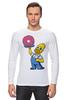"""Лонгслив """"Гомер с Пончиком"""" - симпсон, гомер, пончик, the simpsons, donut"""
