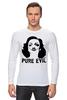 "Лонгслив ""Pure Evil"" - граффити, дизайн, винтаж, марлен дитрих, pure evil"