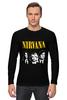 Лонгслив "Nirvana " - гранж, nirvana, kurt cobain, курт кобейн, нирвана