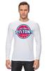 "Лонгслив ""Detroit Pistons"" - баскетбол, nba, detroit, нба, detroit pistons, детройт пистонс"