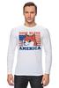 "Лонгслив ""Doge Bless America"" - мем, doge, собакен"