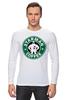 """Лонгслив """"Starman Coffee """" - пародия, кофе, starbucks, старбакс, starman"""