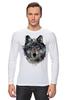 """Лонгслив """"Серый Волк"""" - animal, волк, wolf"""