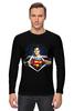 """Лонгслив """"Супермен"""" - супермен, superman"""