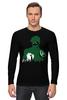 """Лонгслив """"Зеленый Фонарь (Green Lantern)"""" - зеленый фонарь, green lantern"""