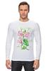 """Лонгслив """"Цветы душистый горошек"""" - арт, цветы, весна, акварель, spring, горошек"""