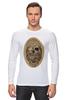 """Лонгслив """"с черепом"""" - skull, череп, скелет, с черепом, хипстер, пират, hipster, sailor, старый моряк"""