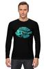 """Лонгслив """"Скелетон"""" - skeleton, скелет, рыба, fish, neon, скелетон"""