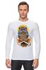 """Лонгслив """"Mysterious Owl"""" - кости, сова, owl, мистическая сова"""