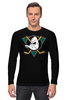 "Лонгслив ""Mighty ducks"" - nhl, нхл, anaheim ducks, хоккейный клуб"