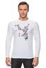 """Лонгслив """"Японская сакура"""" - цветы, вишня, иероглифы, сакура"""